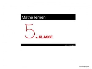 Mathe 5 Klasse