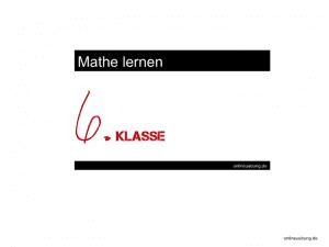 Mathe 6 Klasse