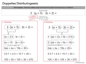 Das doppelte Distributivgesetz