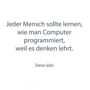 Programmieren lernen - Zitat von Steve Jobs