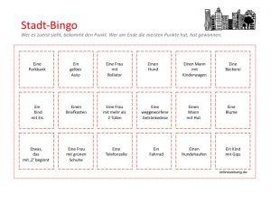Stadt-Bingo / Stadtbingo