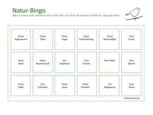 Natur-Bingo / Naturbingo