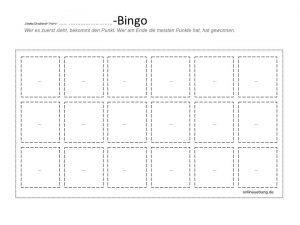DIY-Bingo - mach Dein eigenes Bingo
