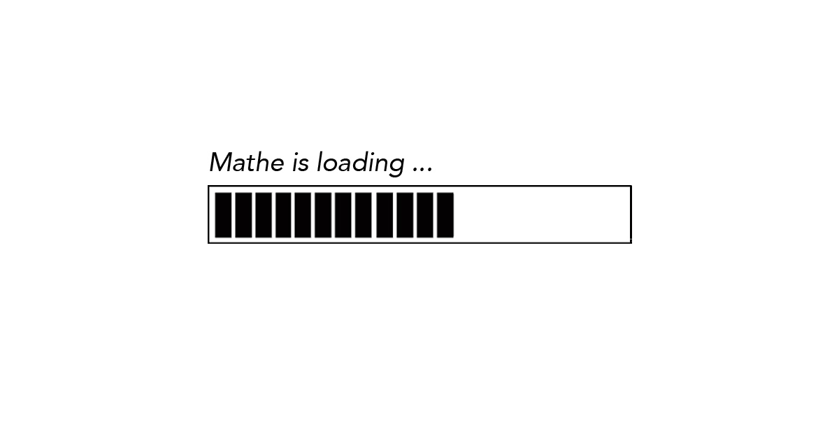 Mathe is loading - Fortschrittsbalken