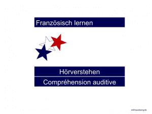 Französisch Hörverstehen / Compréhension auditive