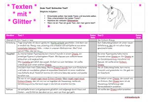 Einhorn und Glitter im Deutschunterricht