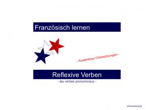 Französische Reflexivverben - les verbes pronominaux - Übungen