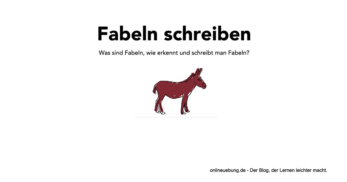 Deutsch Fabeln Schreiben Eigenschaften Gliederung Und Tipps