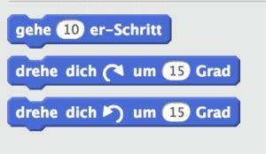Programmierbaustein Scratch