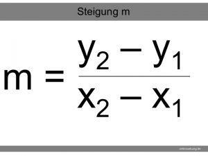 Lineare Funktionen - Formel für die Steigung m