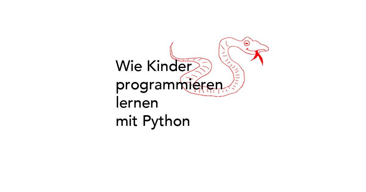 Kinder lernen programmieren mit Python
