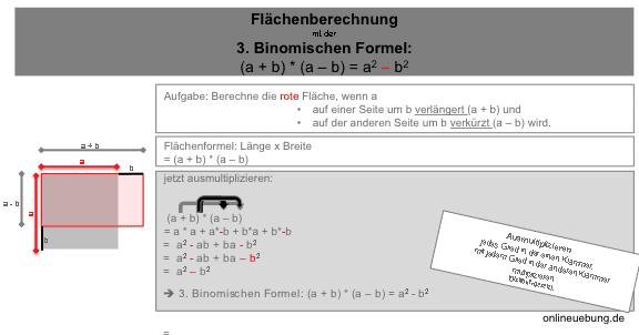 3. Binomische Formel - Flächenberechnung