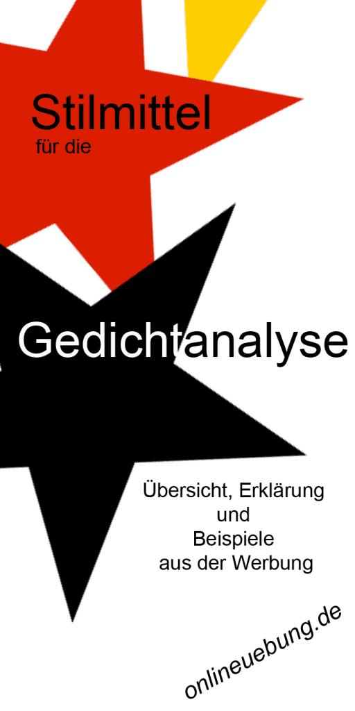 Deutsch - Stilmittel für die Gedichtanalyse