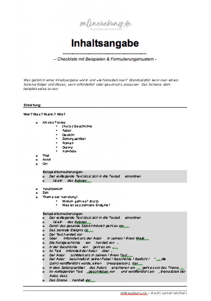 Klasse 8 kurzgeschichten inhaltsangaben für Kurzgeschichten (für