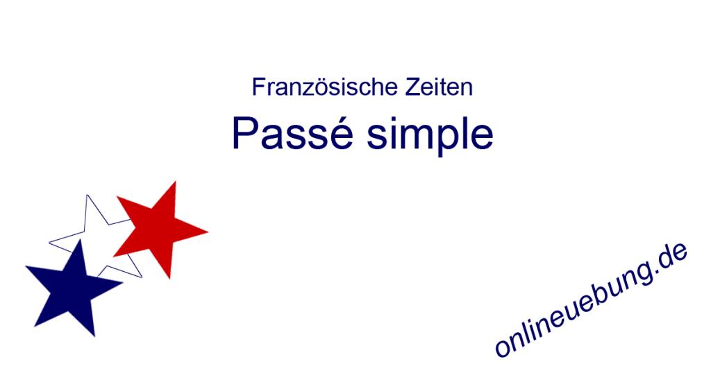 Französisch Passe simple