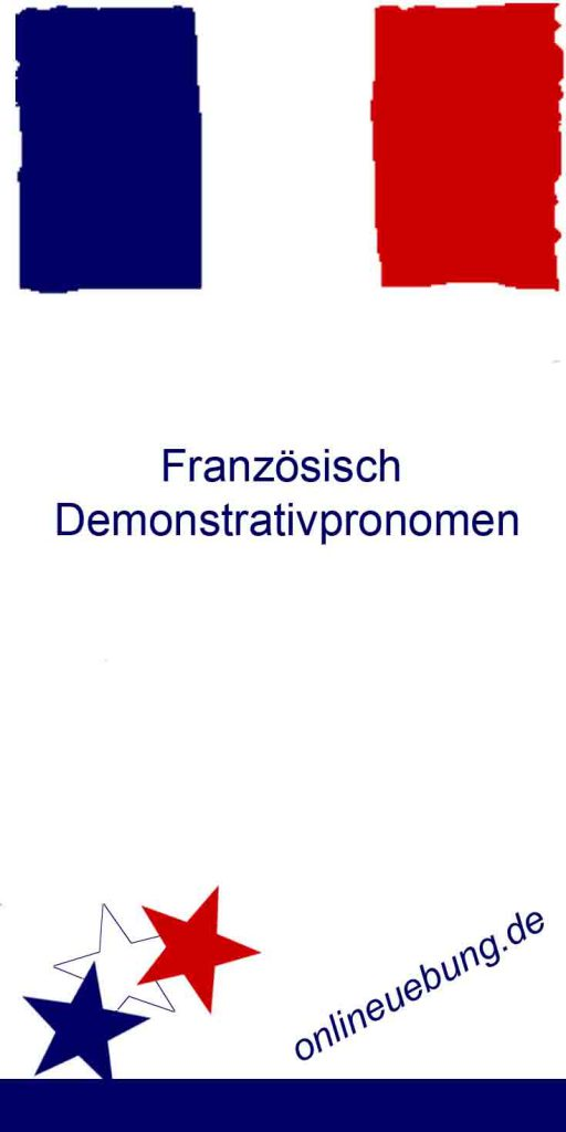 Franzoesische Demonstrativpronomen