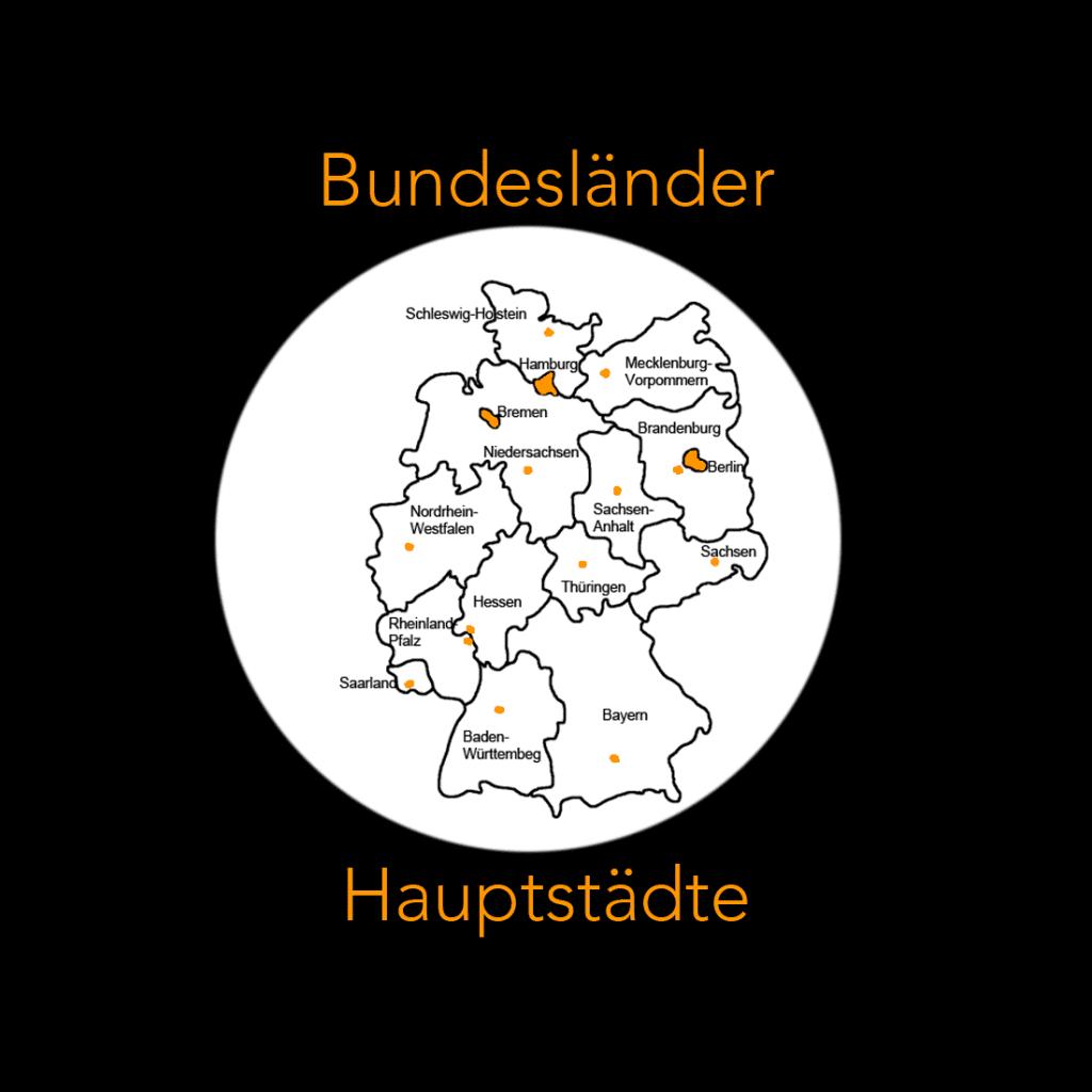 bundesländer von deutschland mit hauptstädten