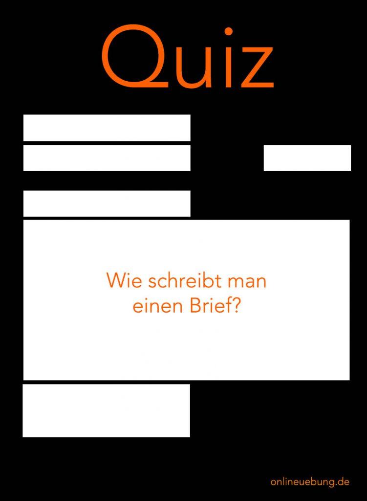 Quiz: Wie schreibt man einen Brief?