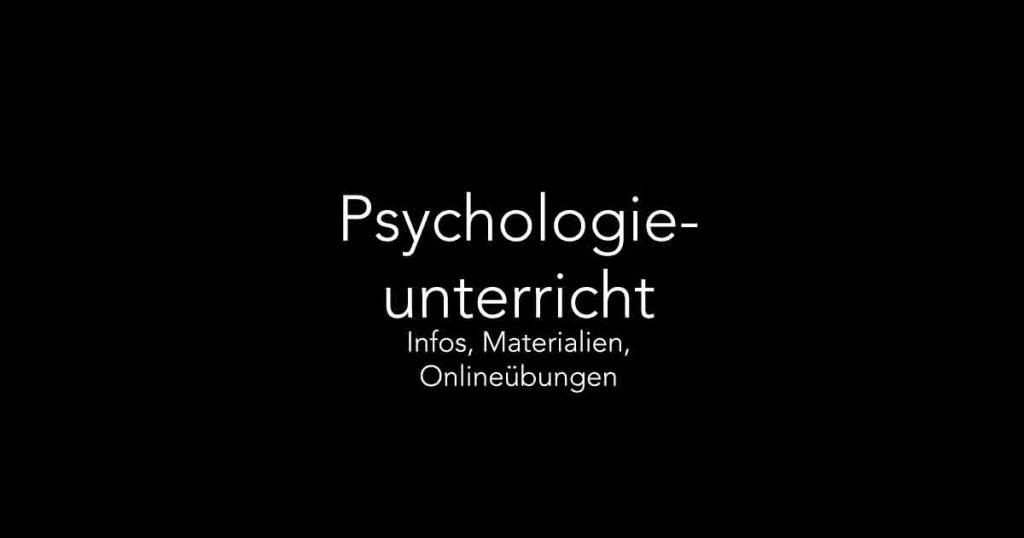Psychologieunterricht