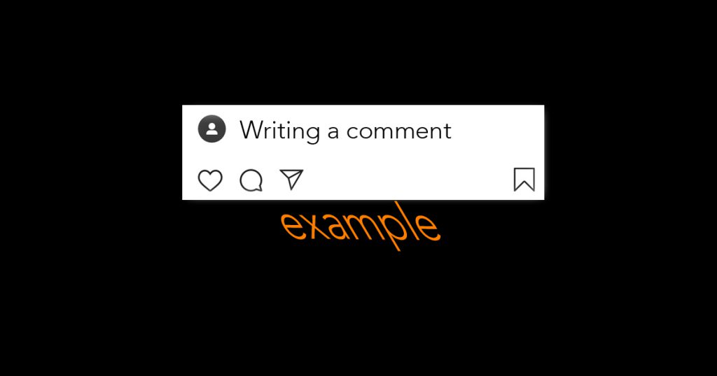 Writing a comment - example