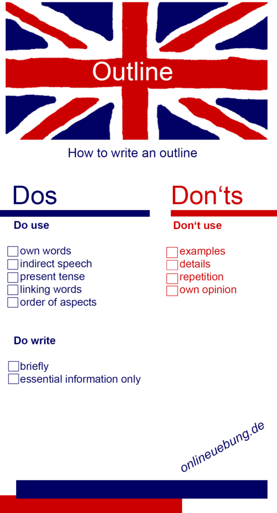 English Outline - Dos and donts - checkliste