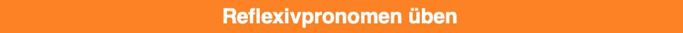 Reflexive pronouns - Reflexivpronomen üben